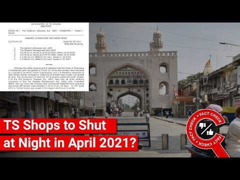 FACT CHECK: Does Image Show Telangana GO about Night Closure of Shops in April 2021?