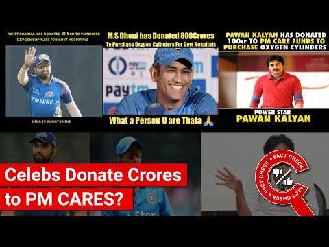 FACT CHECK: Did Pawan Kalyan & Cricketers Donate Crores of Rupees Each to PM CARES?