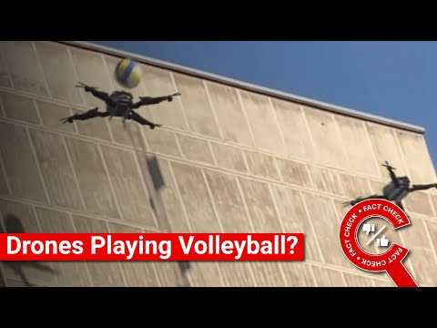 FACT CHECK: Does Video Show Two Drones Playing Volleyball? || Factly