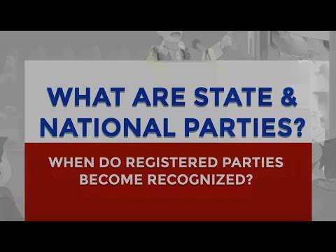 When do Political Parties get recognized as 'State' or 'National' Party? | Factly