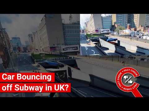 FACT CHECK: Does Video Show UK Incident of Car Bouncing off Subway to Escape Police?