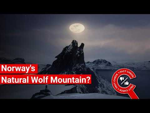 FACT CHECK: Does Image Show Naturally Lupine Wolf Mountain in Norway? || Factly