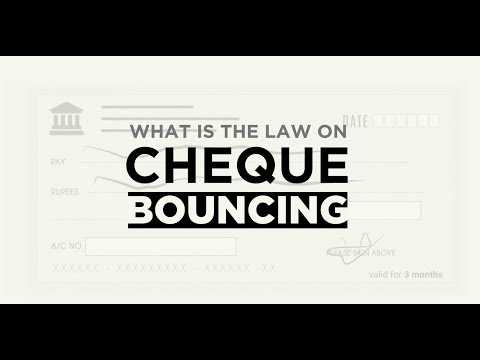 What is the law on Cheque Bouncing? || Legal Recourse || Factly